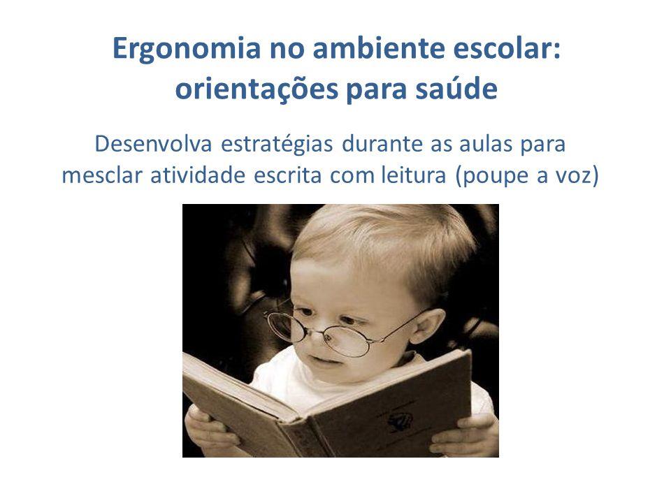 Ergonomia no ambiente escolar: orientações para saúde