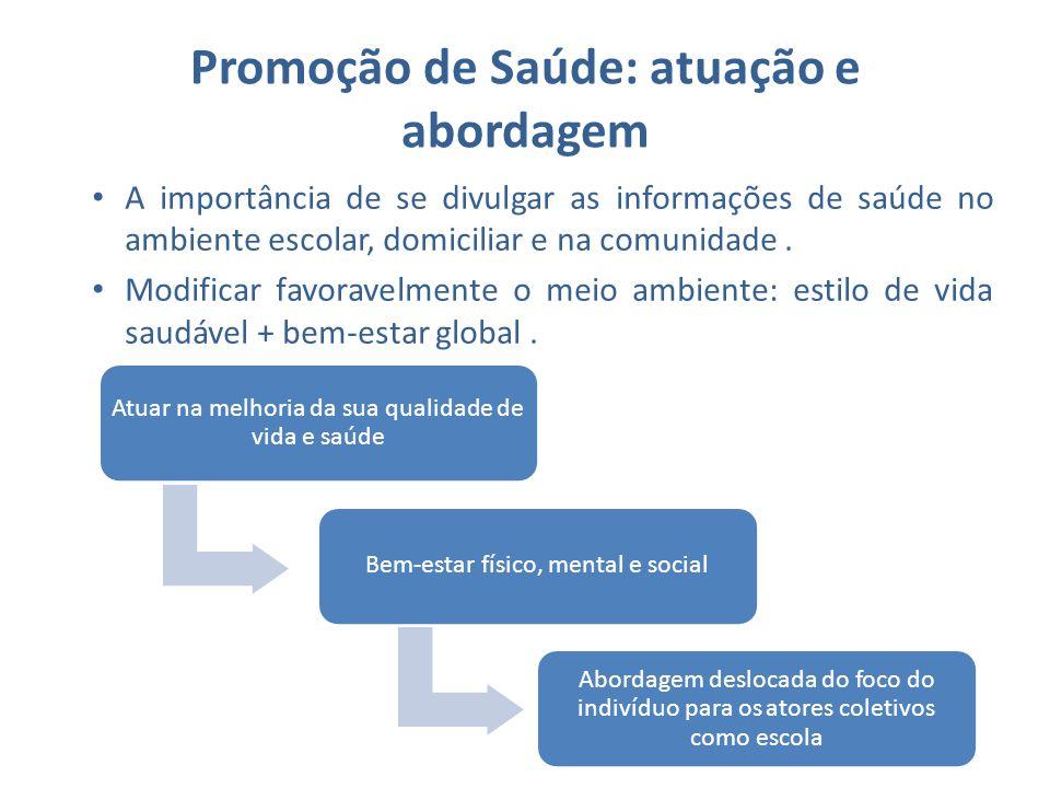 Promoção de Saúde: atuação e abordagem