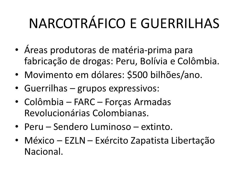 NARCOTRÁFICO E GUERRILHAS