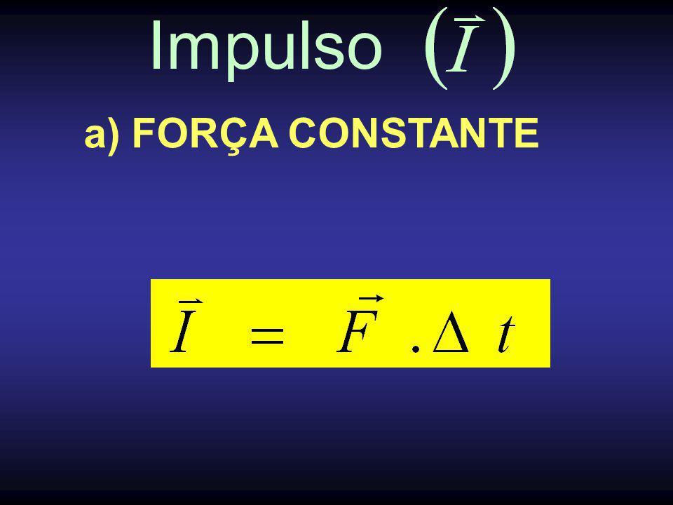 Impulso a) FORÇA CONSTANTE