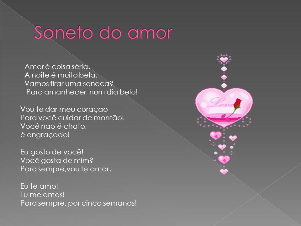 Soneto do amor
