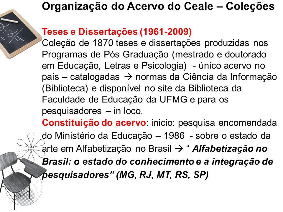 Organização do Acervo do Ceale – Coleções