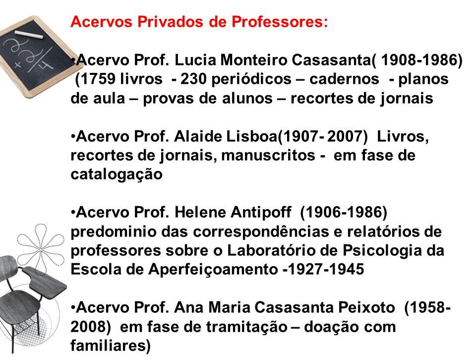 Acervos Privados de Professores:
