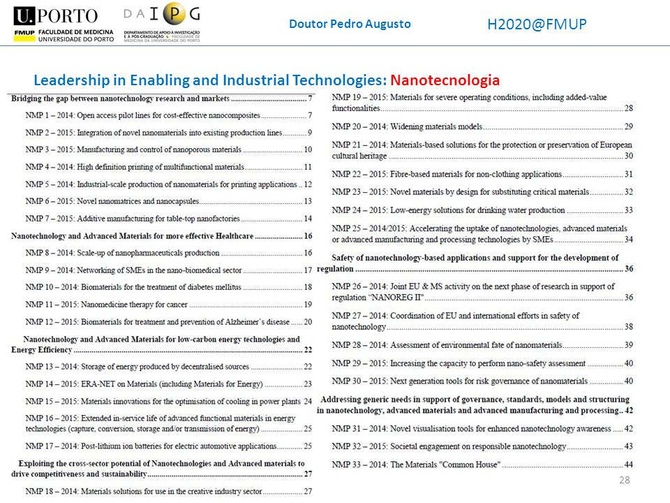 Leadership in Enabling and Industrial Technologies: Nanotecnologia