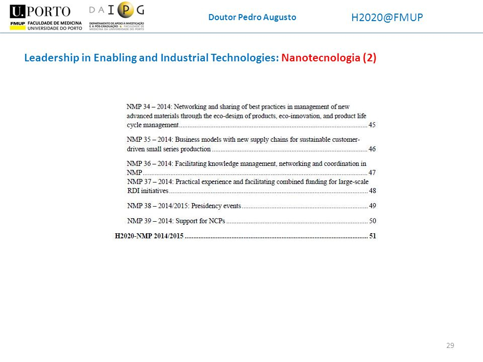 Leadership in Enabling and Industrial Technologies: Nanotecnologia (2)