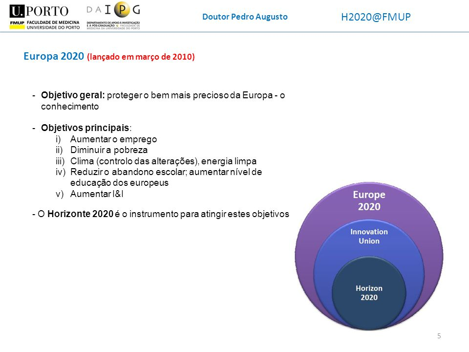 Europa 2020 (lançado em março de 2010)