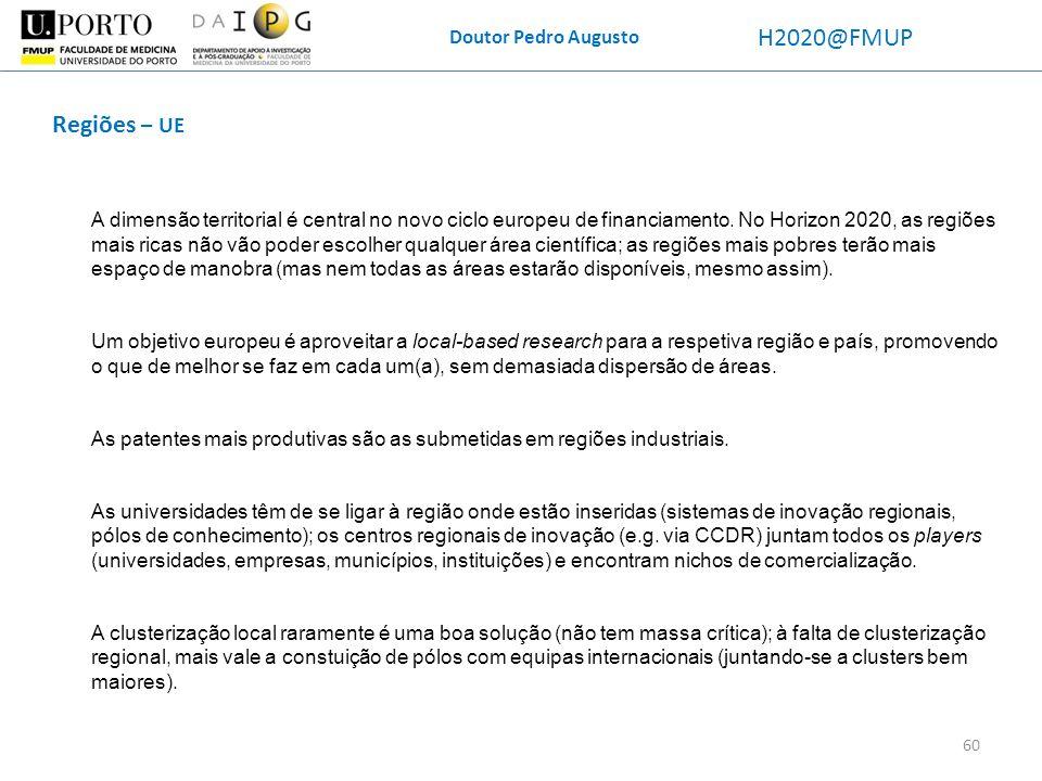 H2020@FMUP Regiões – UE Doutor Pedro Augusto