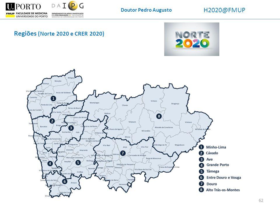 Doutor Pedro Augusto H2020@FMUP Regiões (Norte 2020 e CRER 2020)