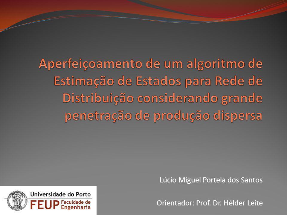 Lúcio Miguel Portela dos Santos Orientador: Prof. Dr. Hélder Leite
