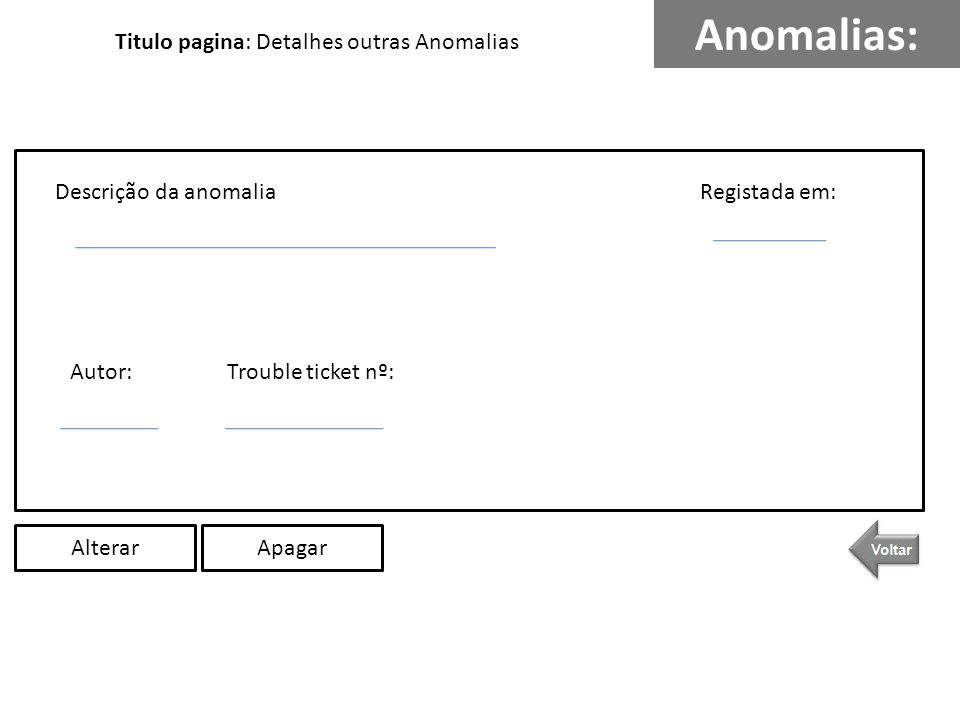 Anomalias: Titulo pagina: Detalhes outras Anomalias