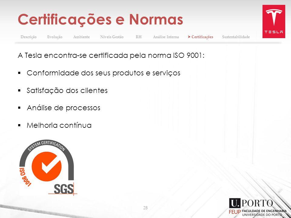 Certificações e Normas