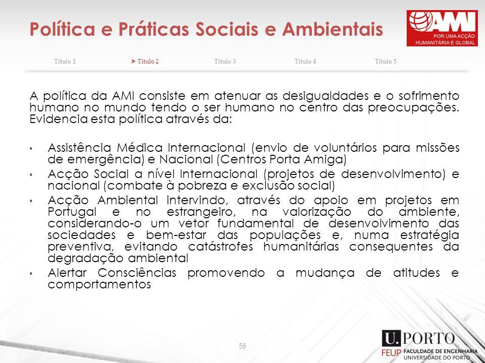 Política e Práticas Sociais e Ambientais