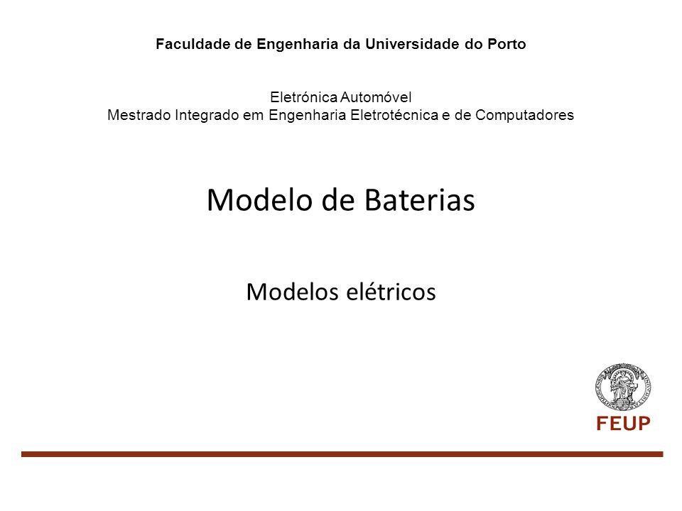 Modelo de Baterias Modelos elétricos