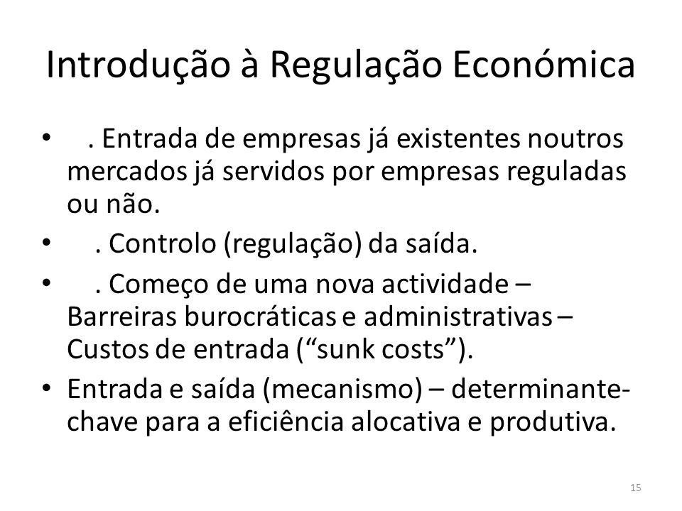 Introdução à Regulação Económica