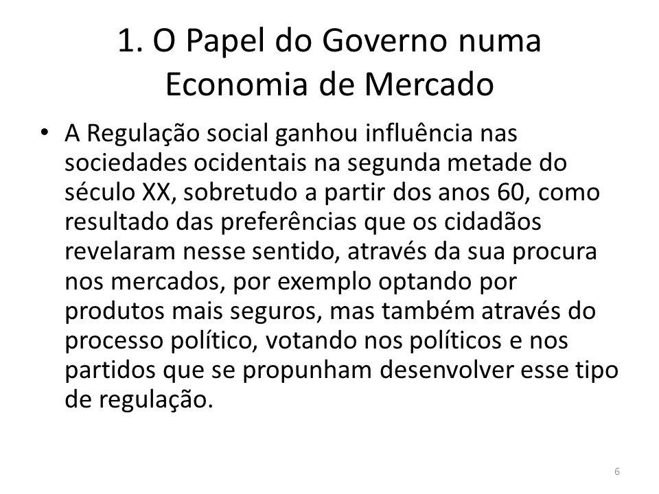 1. O Papel do Governo numa Economia de Mercado