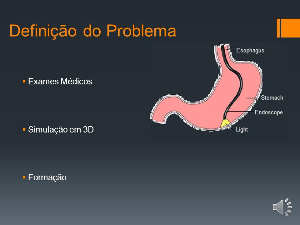 Definição do Problema Exames Médicos Simulação em 3D Formação