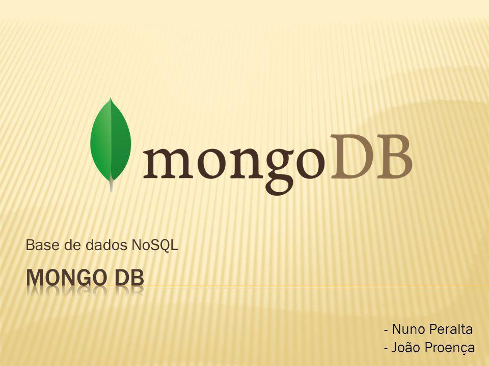 Mongo db Base de dados NoSQL - Nuno Peralta - João Proença GUGA