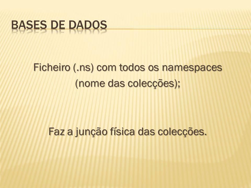 Bases de Dados Ficheiro (.ns) com todos os namespaces