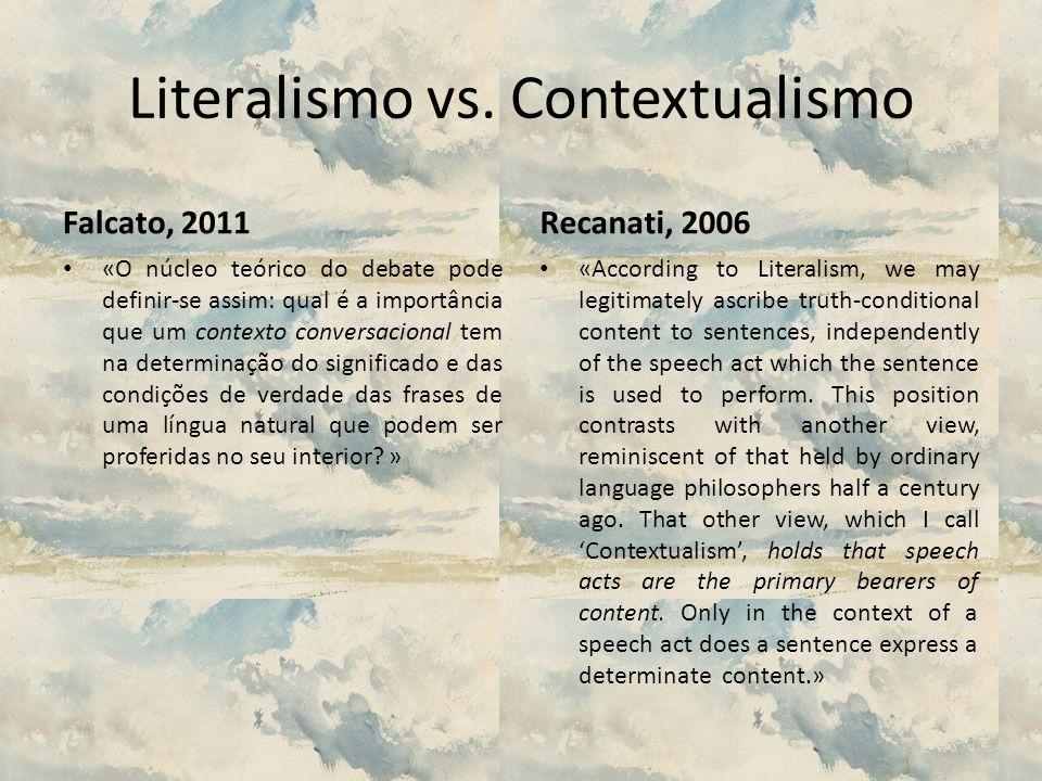 Literalismo vs. Contextualismo