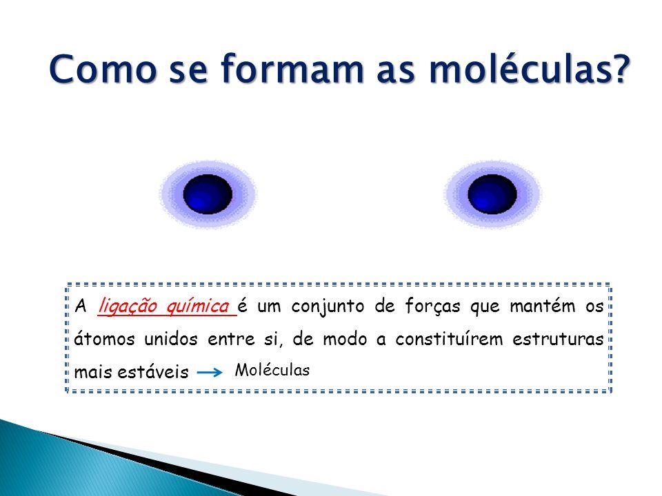 Como se formam as moléculas