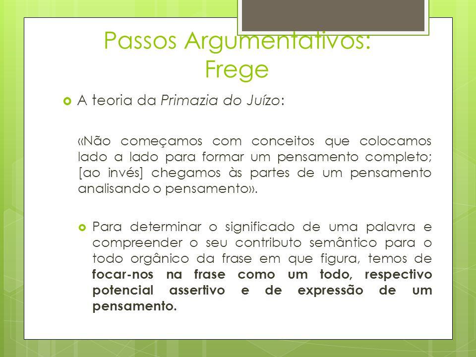 Passos Argumentativos: Frege