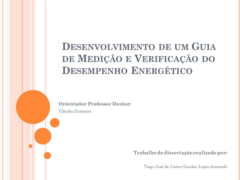 Desenvolvimento de um Guia de Medição e Verificação do Desempenho Energético