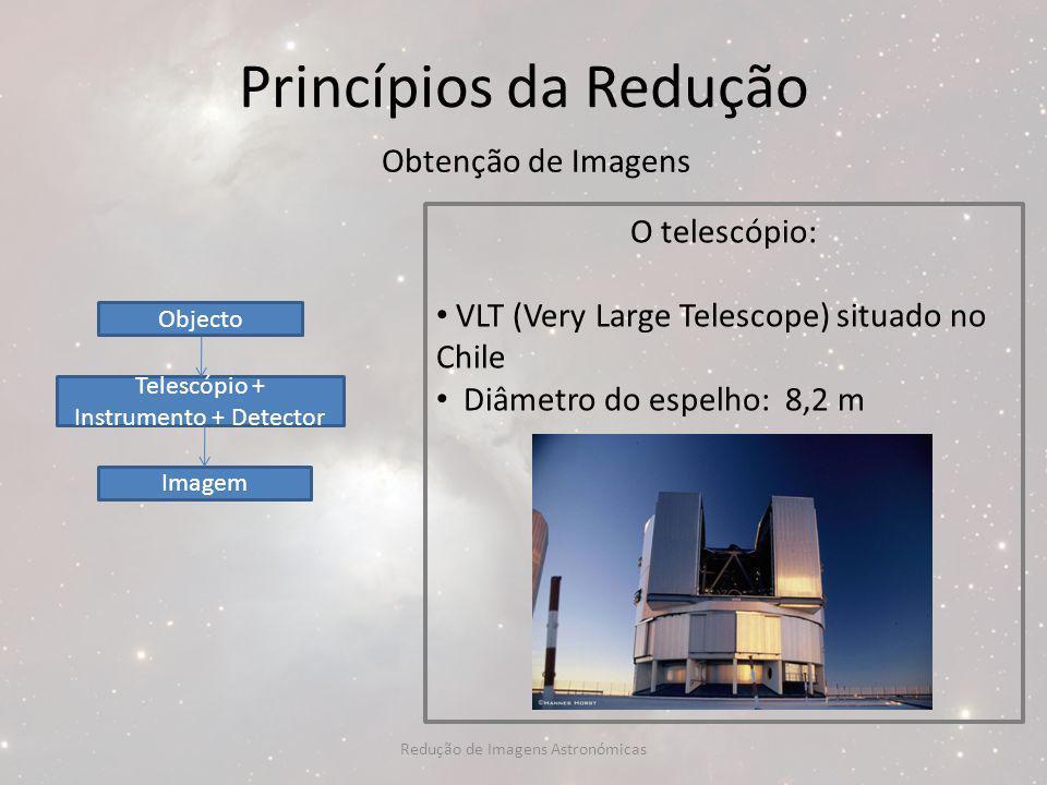 Princípios da Redução Obtenção de Imagens O telescópio: