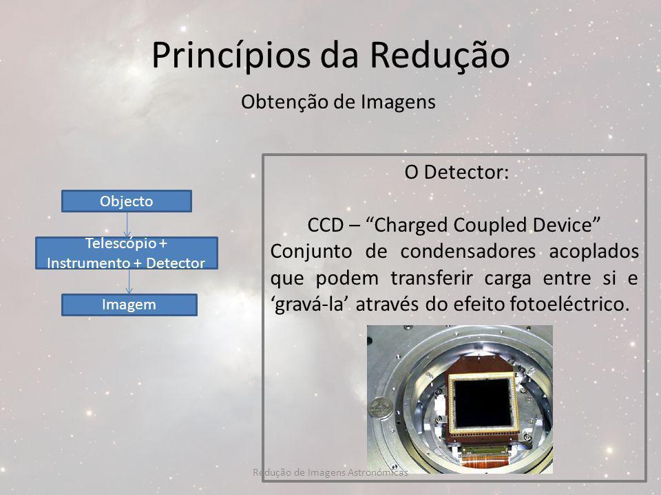 Princípios da Redução Obtenção de Imagens O Detector: