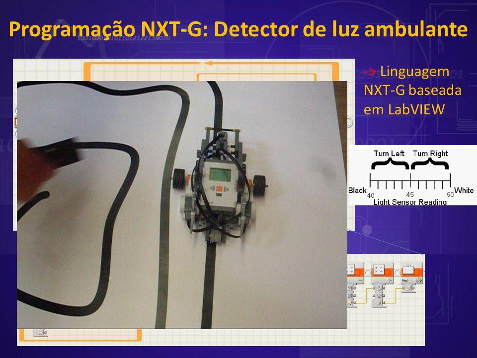 Programação NXT-G: Detector de luz ambulante