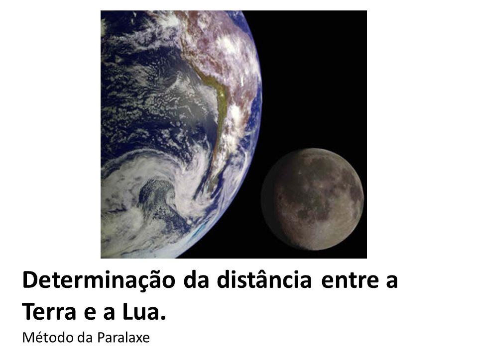Determinação da distância entre a Terra e a Lua.