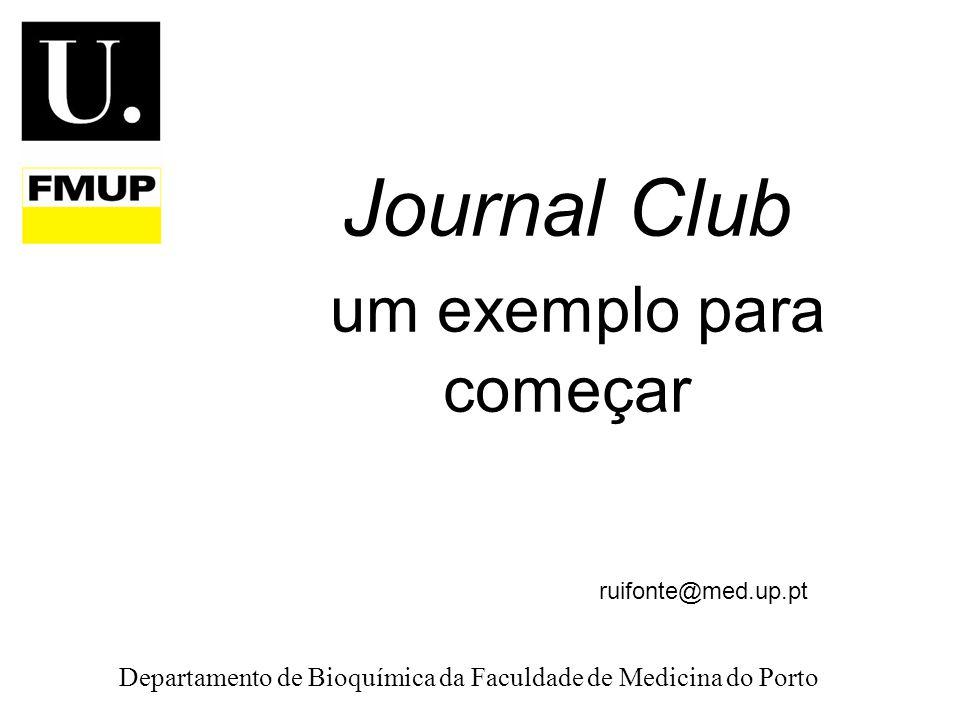 Journal Club um exemplo para começar