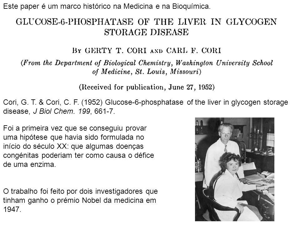 Este paper é um marco histórico na Medicina e na Bioquímica.