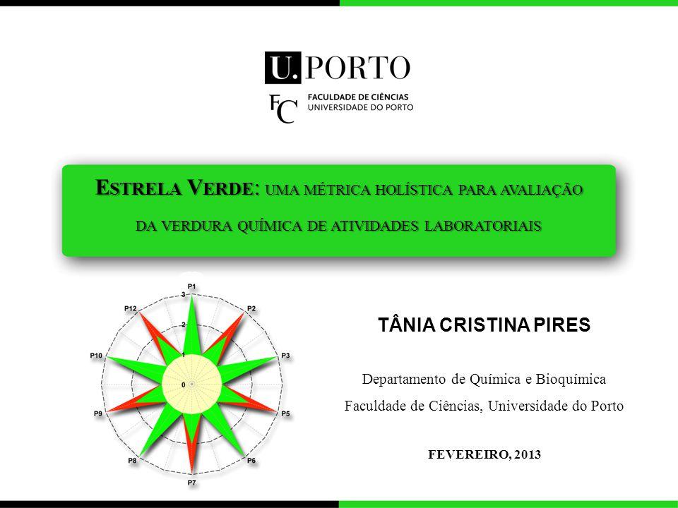 Estrela Verde: uma métrica holística para avaliação da verdura química de atividades laboratoriais