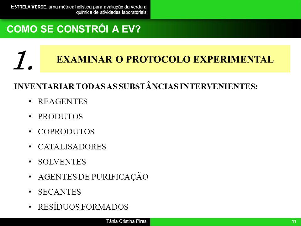EXAMINAR O PROTOCOLO EXPERIMENTAL