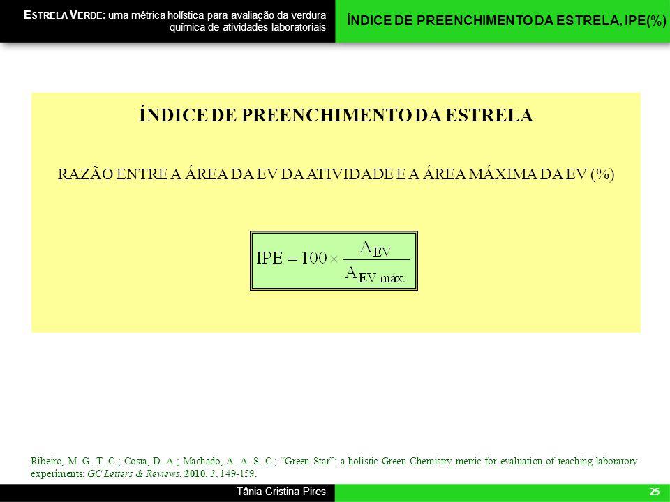 ÍNDICE DE PREENCHIMENTO DA ESTRELA