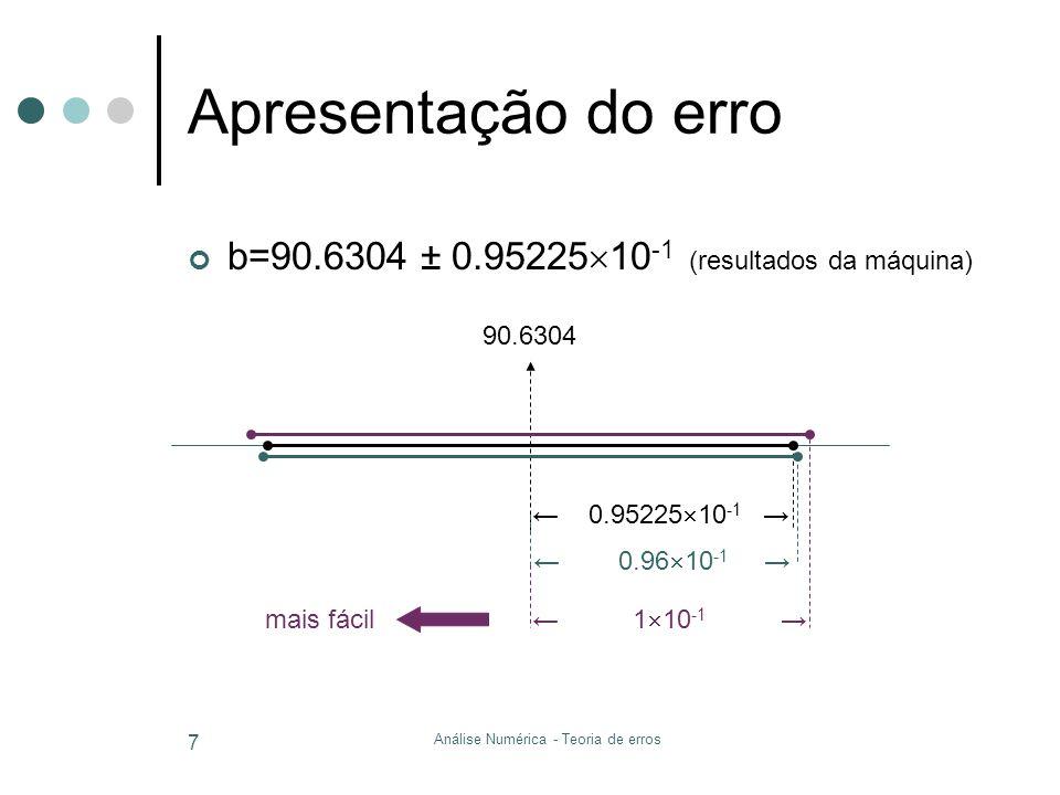 Análise Numérica - Teoria de erros