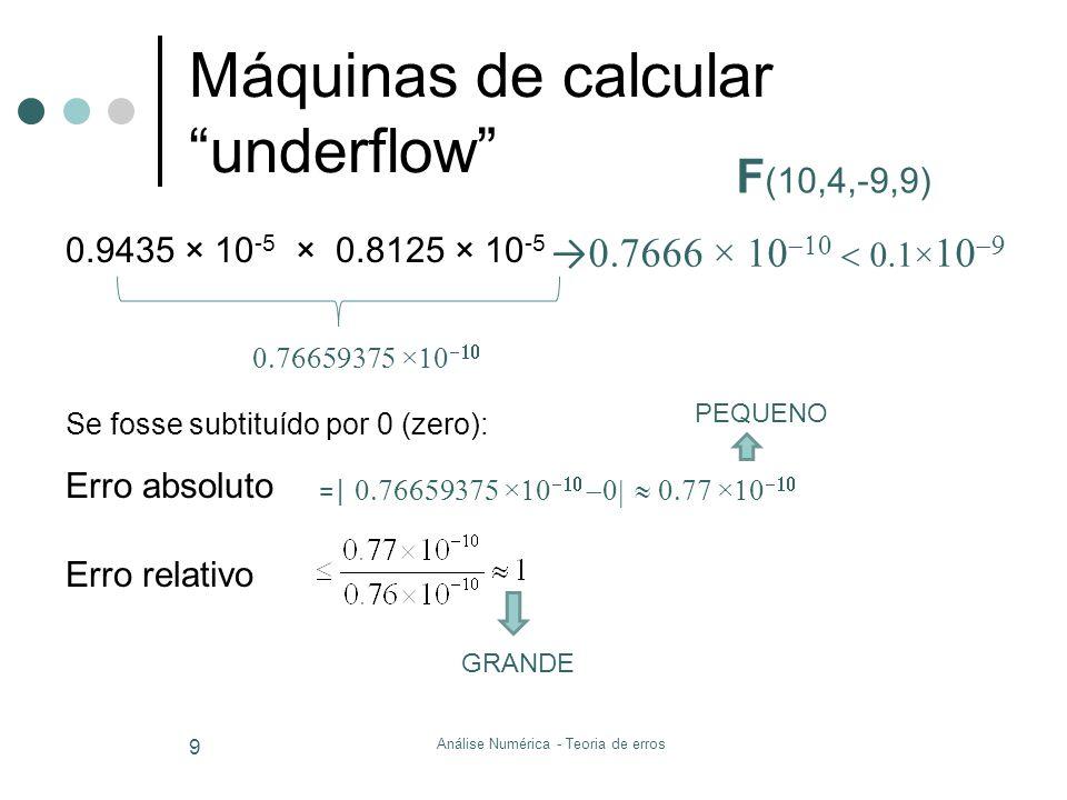 Máquinas de calcular underflow