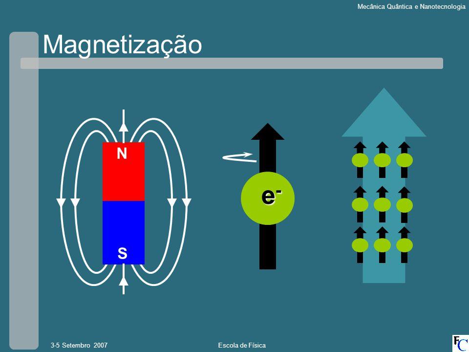 Magnetização N e- S