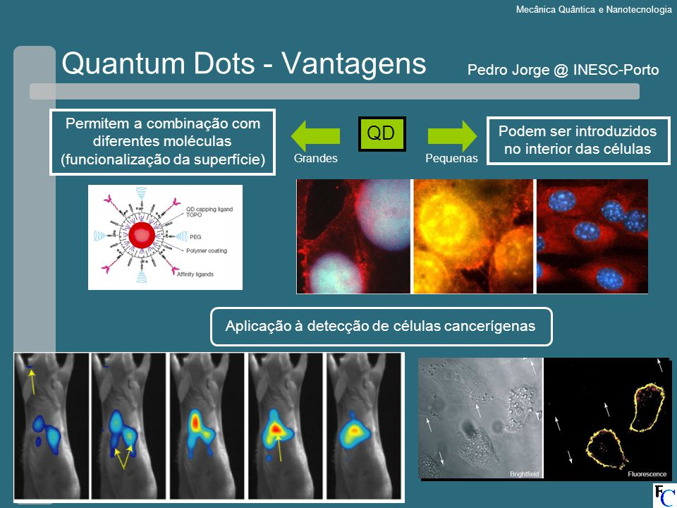 Quantum Dots - Vantagens