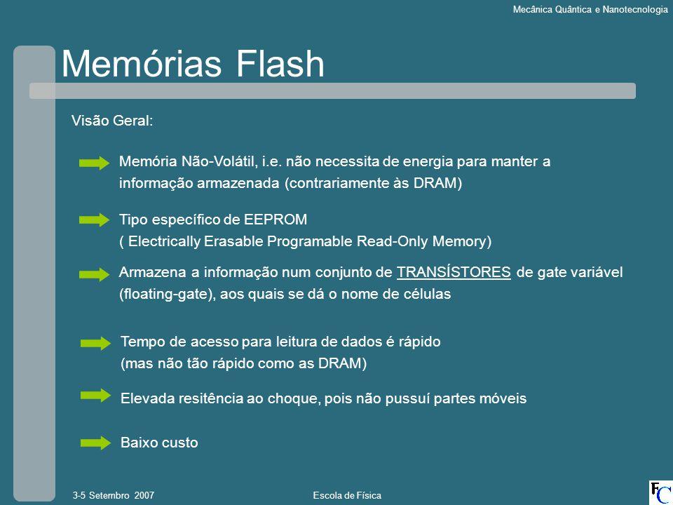 Memórias Flash Visão Geral: