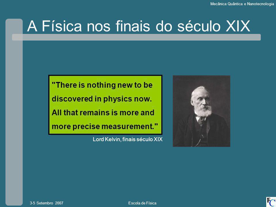 A Física nos finais do século XIX