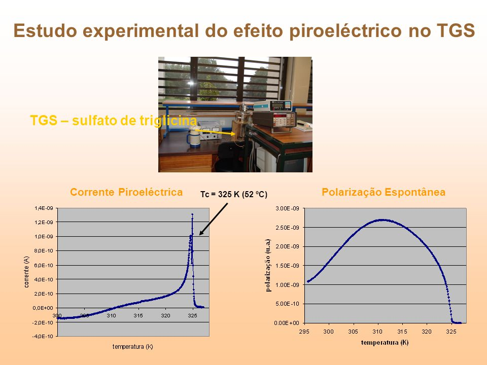 Estudo experimental do efeito piroeléctrico no TGS