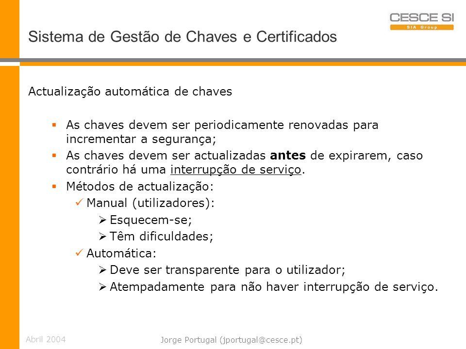 Sistema de Gestão de Chaves e Certificados