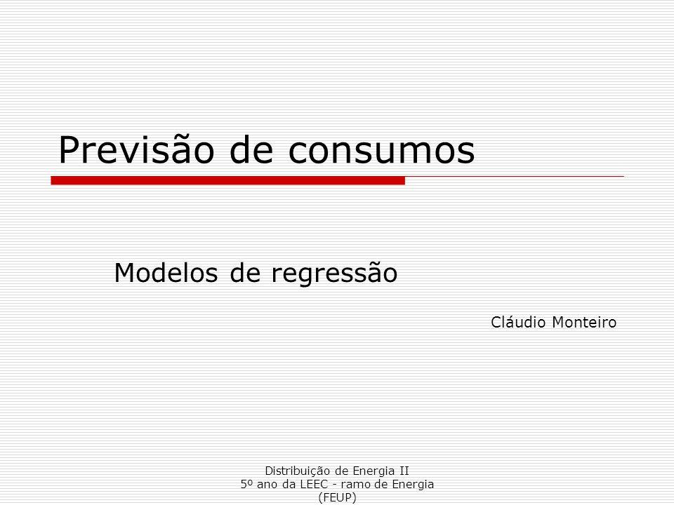 Modelos de regressão Cláudio Monteiro