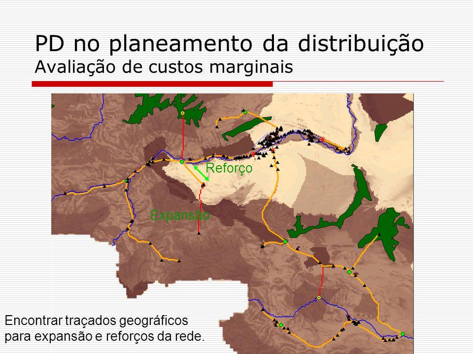 PD no planeamento da distribuição Avaliação de custos marginais