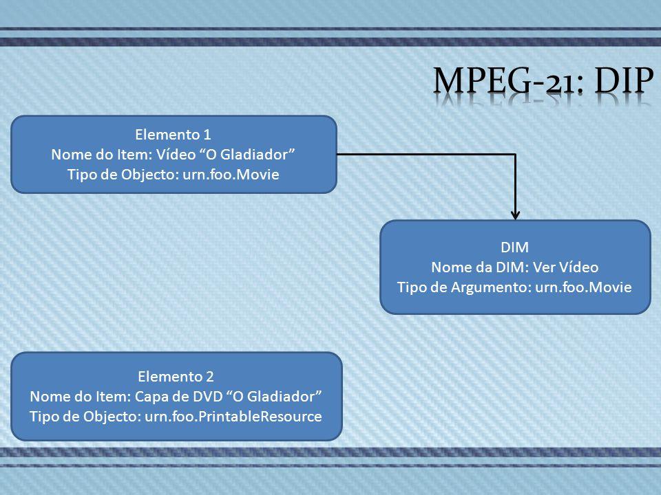 MPEG-21: DIP Elemento 1 Nome do Item: Vídeo O Gladiador