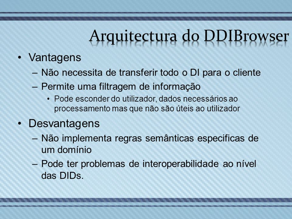 Arquitectura do DDIBrowser