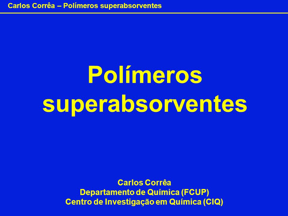 Polímeros superabsorventes