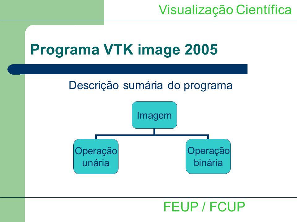 Programa VTK image 2005 Visualização Científica FEUP / FCUP