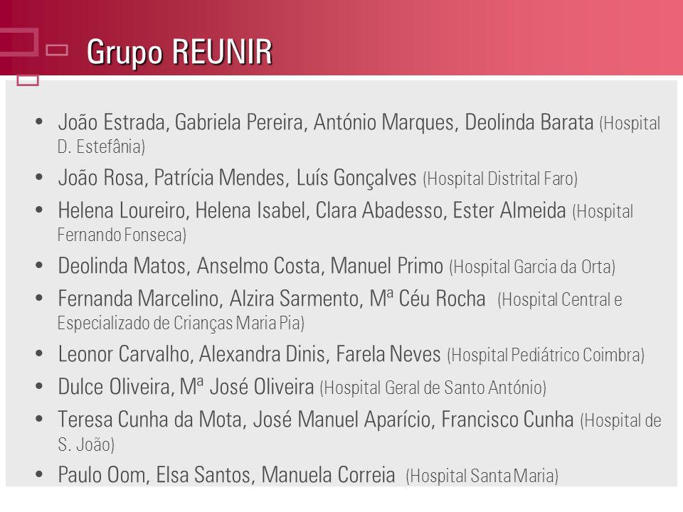 ç Grupo REUNIR. João Estrada, Gabriela Pereira, António Marques, Deolinda Barata (Hospital D. Estefânia)